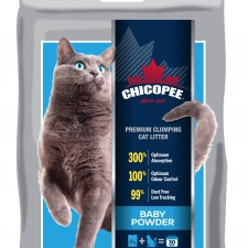 Chicopee Premium Clumping Cat Litter - Baby Powder 10kg