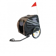 Keddoc Bicycle Trailer De Luxe Grijs/Zwart Large
