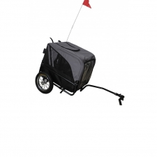 Keddoc Dog Bicycle Trailer De Luxe Grijs/Zwart Small
